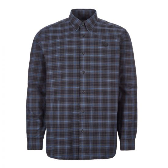 Fred Perry Tartan Shirt M7557|963 Mindnight Blue At Aphrodite Clothing