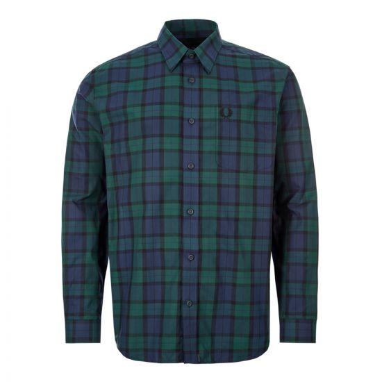 fred perry tartan shirt M7608 145 green