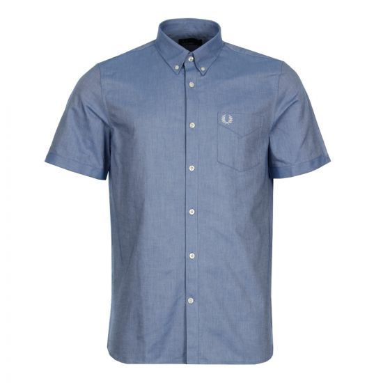 Fred Perry Oxford Shirt M3531 111 Mid Blue