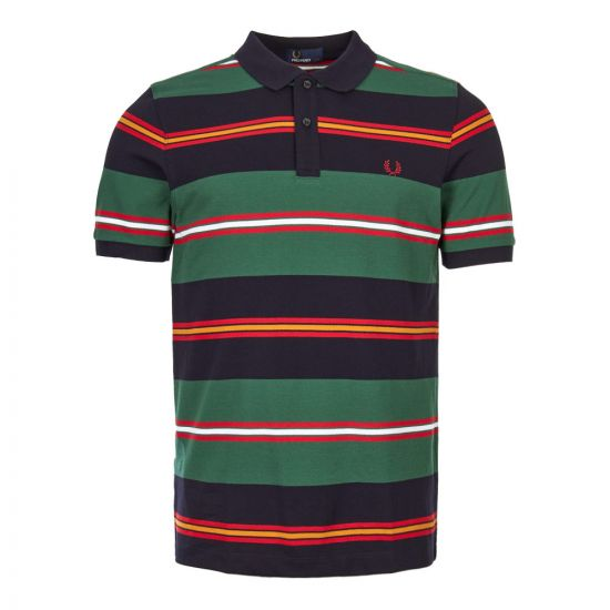 fred perry polo shirt contrast stripe M5507 608 Multi