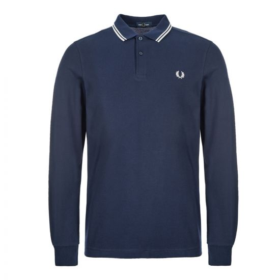 Fred Perry Long Sleeve Polo Twin Tipped M3636|I86 Navy