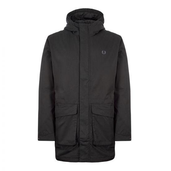 fred perry parka jacket J7513 102 black