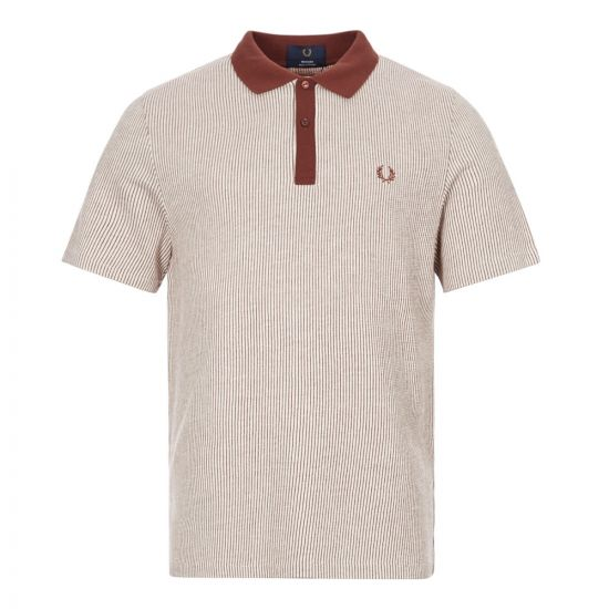 fred perry polo shirt M886 K11 auburn / red
