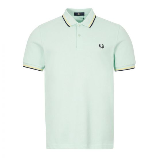 fred perry polo shirt twin tipped M3600 D54 misty jade