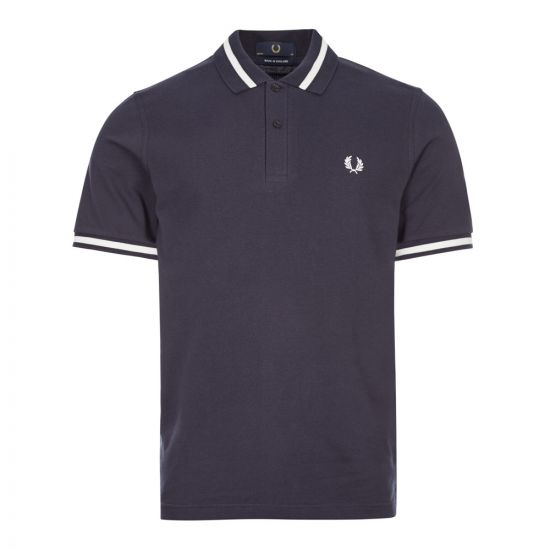 fred perry polo shirt single tipped M2 797 navy