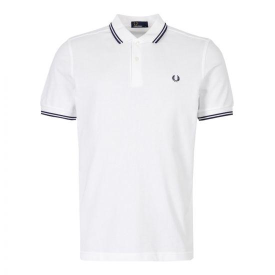 Polo Shirt Twin Tip - White / Navy
