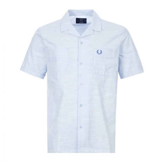 fred perry short sleeve shirt rever collar | M8807 K14 dusty blue