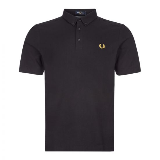 fred perry polo shirt button down M8543 102 black