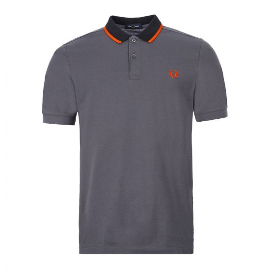 Fred Perry Polo Shirt Tipped | M7570 491 Charcoal