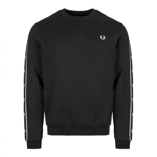 Fred Perry Sweatshirt Taped | M7538 102 Black