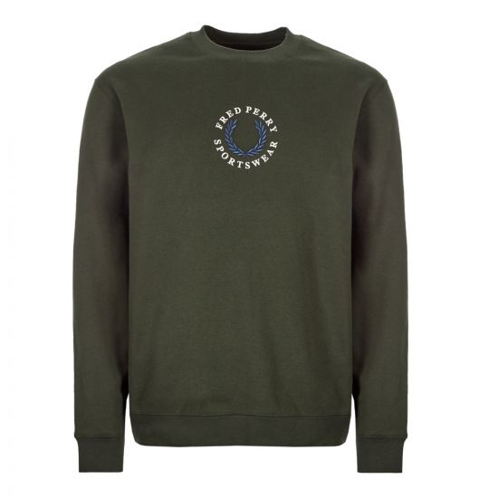 fred perry sweatshirt M7610 408 hunting green