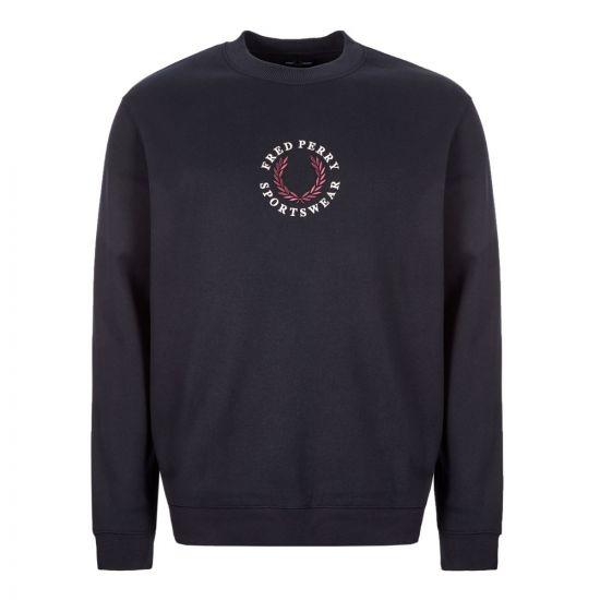 fred perry sweatshirt M7610 608 navy