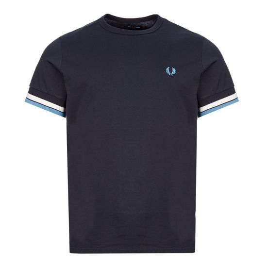 Fred Perry T-Shirt Bold Tipped | M7539 248 Navy