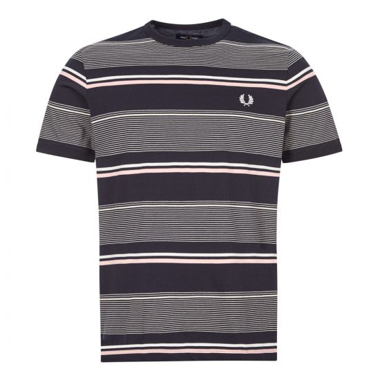 fred perry t-shirt M8553 608 navy stripe