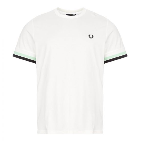 fred perry t-shirt bold tipped M7539 313 snow white