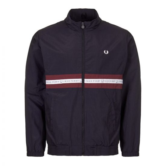 Fred Perry Track Top Sports Tape J5511 608 In Navy