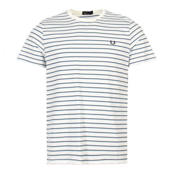 Fred Perry T-Shirt M5573|129 In Snow White Stripe