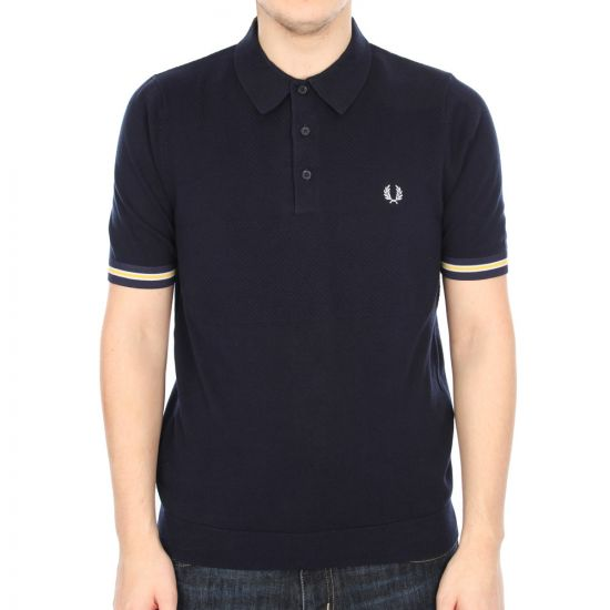 Fred Perry Knit Polo in Navy