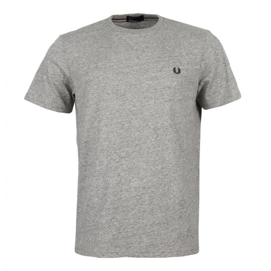 Fred Perry T Shirt in Vintage Steel Marl Crew Neck M6334 314
