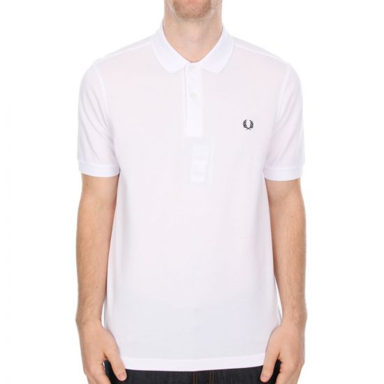 Fred Perry Short Sleeved Polo Shirt in White