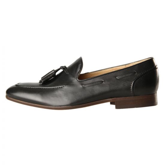 H by Hudson Loafers Pierre Black Leather