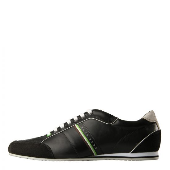 Hugo Boss Green Trainers in Black