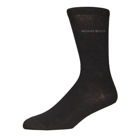 hugo boss socks black 2 pack 50185991
