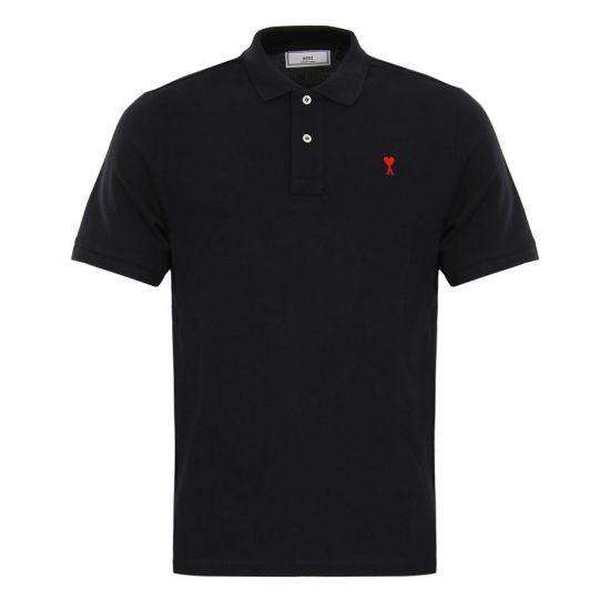 ami polo shirt E17J207780 001 black