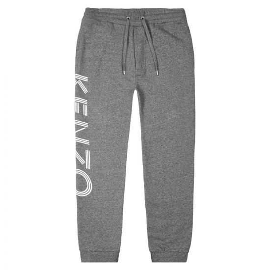 Kenzo Sweatpants Logo - Grey Melange 21302CP -1
