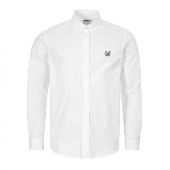 Kenzo Button Down Shirt - White 22069CP -1