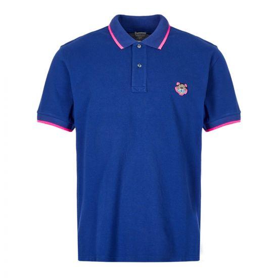 Kenzo Polo Shirt Tiger   PF665PO2014BA 74 Blue / Pink