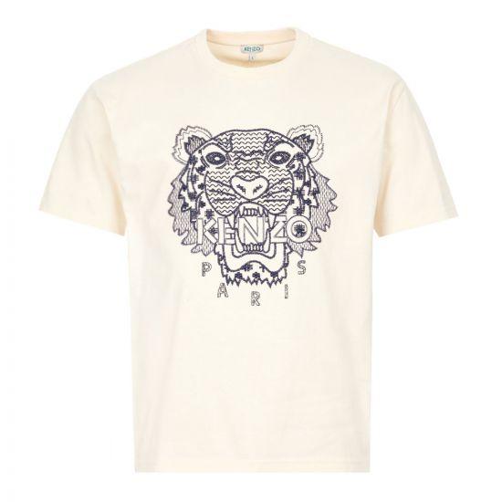 Kenzo T-Shirt Logo - Ecru 22210CP -1