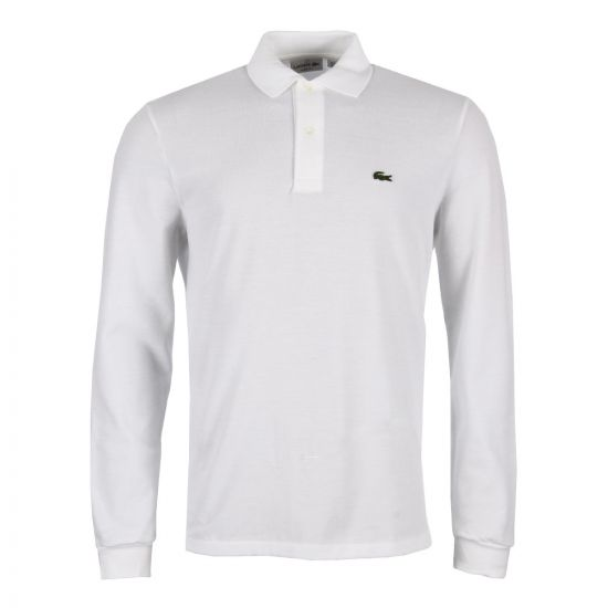 Lacoste Long Sleeve Polo Shirt | L131200 White