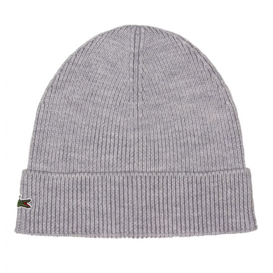 Lacoste Beanie Hat RBB3502 00 CCA Silver Chine