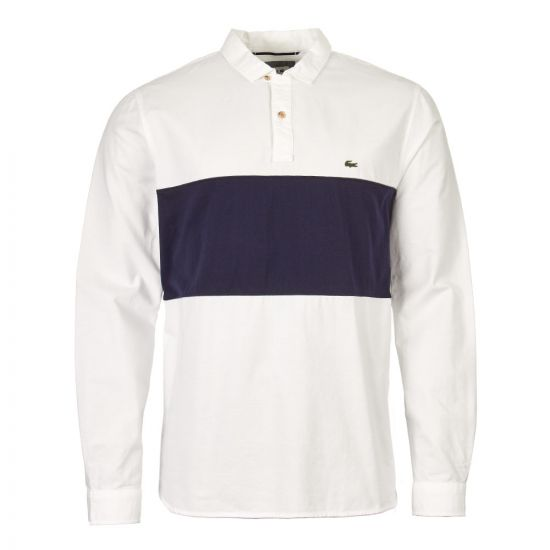 Lacoste Shirt   CH4862 00 522 White / Navy