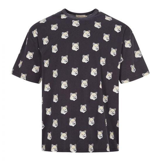 Maison Kitsune T-Shirt Fox Head | EU00139KJ0010 BLK Black