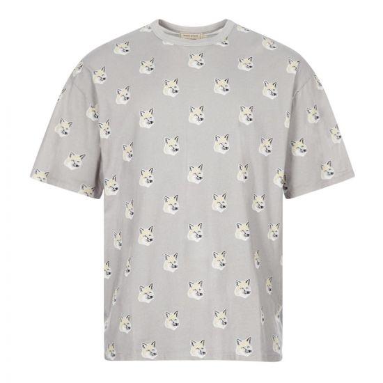 Maison Kitsune T-Shirt Fox Head | EU00139KJ0010-LG Grey