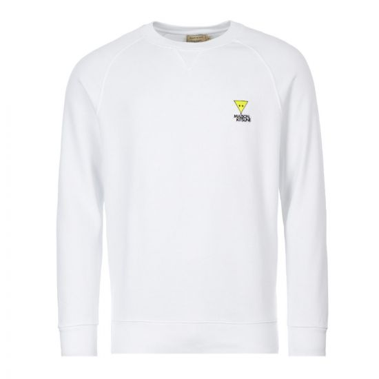 Maison Kitsune Sweatshirt Triangle Fox | DM00317K M0001 WH White