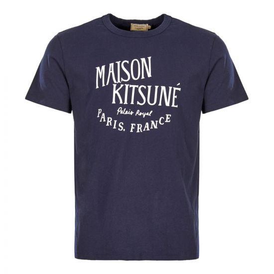 Maison Kitsune Polo Shirt AM00100K J0008 NA Navy