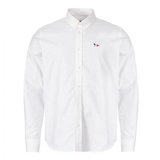 Maison Kitsune Shirt Fox Patch | AW00400W C0003 WH White