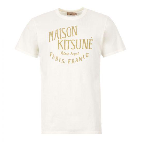 Maison Kitsune Palais T-Shirt   DM00123K J0008 Off White   Aphrodite Clothing