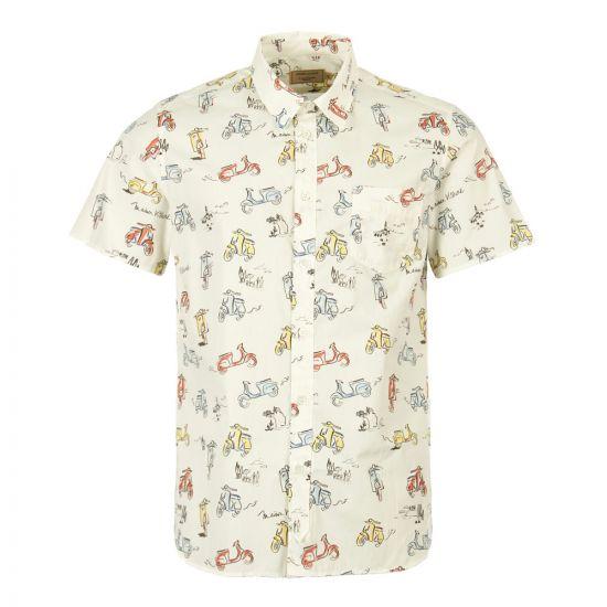 Maison Kitsune Short Sleeve Shirt CM00414W C4001 MUP In Multi