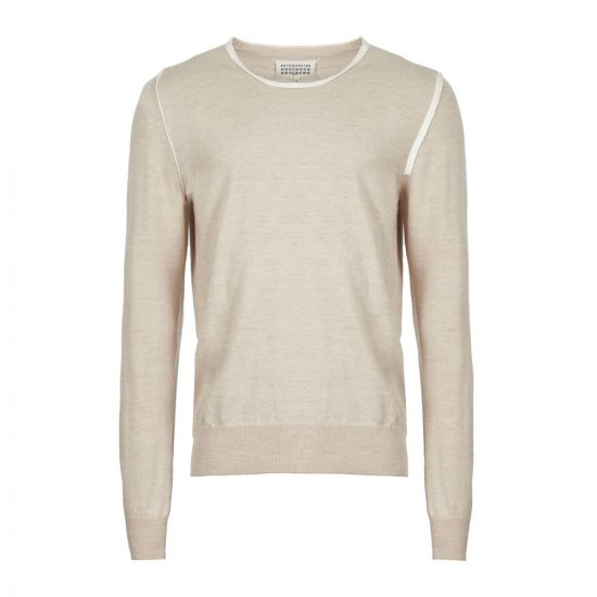 Maison Margiela Knitted Sweater   S50HA0876 S16768 106F Beige