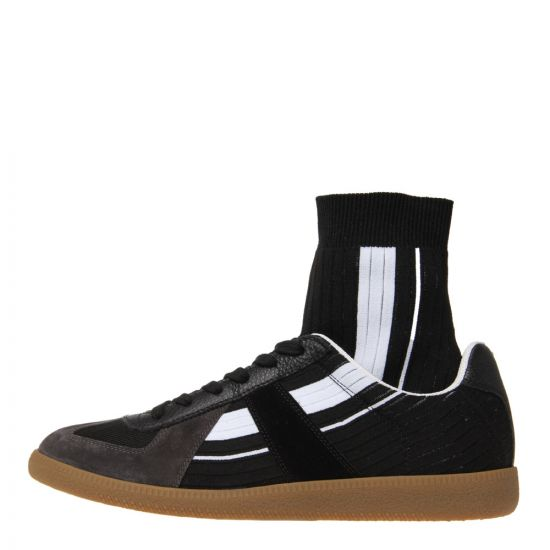 Maison Margiela Replica Sock High S37WS0459 P2002 H0958 In Black / White
