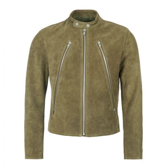Maison Margiela Suede Jacket S50AM0413 SY0938 741 Green