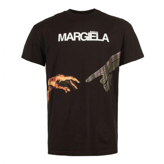 maison margiela t-shirt S50GC0533 S22816 900 black