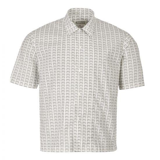 Maison Margiela Short Sleeve Shirt S50DL0385 S52166 001S White / Black