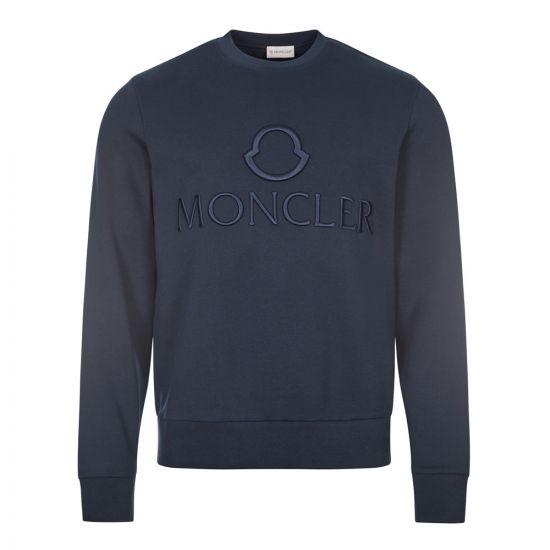 moncler sweatshirt embroidered 8G796 10 809KR 778 navy