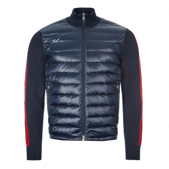 Moncler Knitted Cardigan Trico 9B500|00|V9059|742 In Navy At Aphrodite Clothing