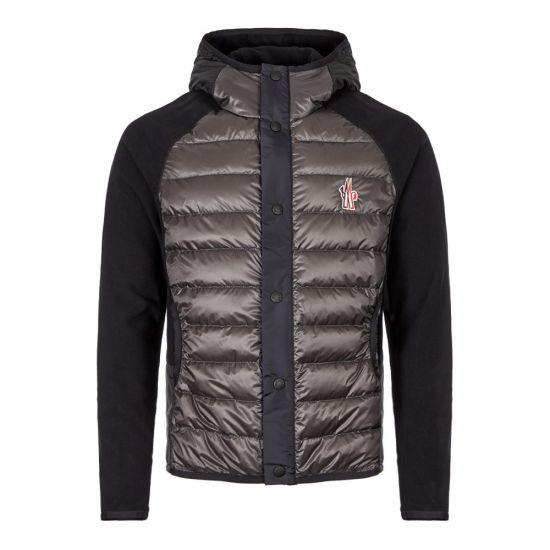 Moncler Hooded Cardigan 84008 00 80093 997 Grey / Navy / Black